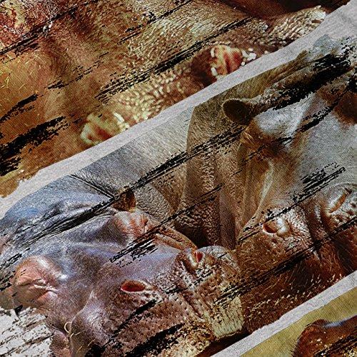 Natur Tier Wild Tier Wasser Welt Damen S-2XL Muskelshirt | Wellcoda Grau