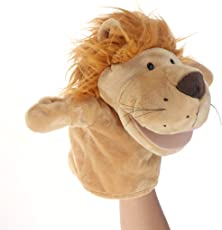 Adorable Plush Hand Puppet Lion Zoo Friends Animals Educational Puppets Dolls Cartoon Lion