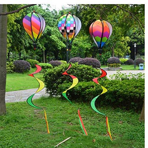 Bunte Camping-Zelt Faltbare Regenbogen-Spirale Windmühle Wind Spinner Home Garten Decor