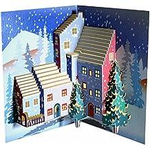 Forever Handmade Cards Pop Ups POP110, alberi di Natale-Laser-Biglietto di auguri Pop-Up - Greeting Laser Cards