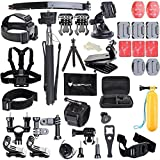 Go Pro Accessory Pack,icefox®50 in 1 Accessory Kit for...