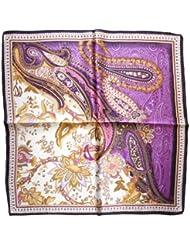 Nella-Mode wunderschönes & elegantes NICKITUCH, Tuch, Halstuch Paisley-Muster, 53x53 cm, Lila