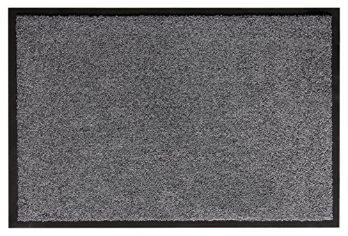 Preisvergleich Produktbild andiamo Schmutzfangmatte Fußabtreter Türmatte Fußmatte Sauberlaufmatte Schmutzabstreifer Türvorleger – Eingangsbereich In/Outdoor – rutschhemmend waschbar grau Polypropylen– 90x150 cm – 5 mm Höhe