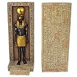 Design Toscano WU69477 Serre-livres sculpturaux d'Horus Multicolore 11,5 x 10 x 24 cm