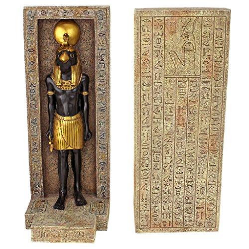 Design Toscano Horus, Skulpturale Buchstützen (2er-Set) - Zwei Buchstützen