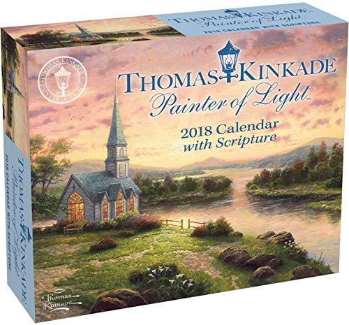 Official Thomas Kinkade Painter of Light with Scripture 2018 Day-to-Day Calendar