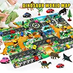 kitabetty Traffic Play Mat, 8357CM Children Educational Dinosaur World Road Traffic Game Mat, Great For Playing with Cars and Toys - Learn and Have Fun Safely.