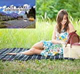 Out There Jumbo Family Sized Tartan Picnic Rug Travel Blanket 3m x 2.2m (colours may vary)