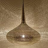 Orientalische Silberlampe handgefertigte Deckenlampe Handmade Hängeleuchte prachtvolle Pendelleuchte ägyptische Silber Messinglampe Mirbat D42