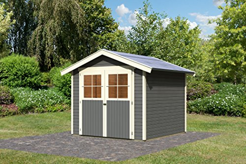 Karibu Gartenhaus Harburg 5 terragrau 19 mm