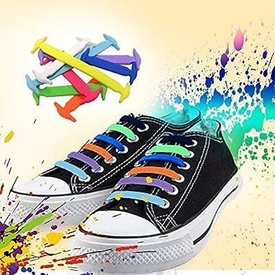 Homer No Tie Shoelaces für Kinder und Erwachsene - Best in Sports Fan Shoelaces - Wasserdichte Silikon flache elastische Sportlauf Schnürsenkel mit Multicolor für Sneaker Stiefel Brettschuhe und Freizeitschuhe