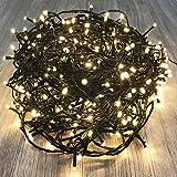 400er LED Tannenbaum Lichterkette Weihnachtslichterkette Warmweiß für Innen & Außen Weihnachtszeit Party Grünes Kabel
