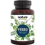Integratore Ferro 40mg con Vitamina C da Acerola, 180 Compresse Vegan, per Anemia, Mestruazioni e Stanchezza Fisica, Bisglici