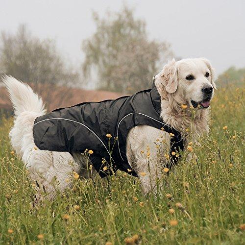 DOGBITE Winterjacke FLEXIBLE SYSTEM Schwarz Mantel für Hunde 45cm