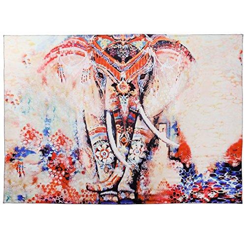 CLE DE TOUS - Tapiz de pared Tapices Indios de Tela Estilo Mandala Elefante Bohemia 210x150cm Toalla de playa (Elefante)