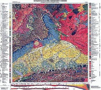 Geologische Karte von Bayern 1:500.000