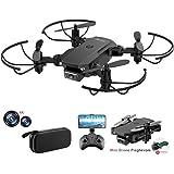 allcaca RC Mini Drone con Telecamera 4K HD Doppia, RC Quadcopter Drone Pieghevole WiFi FPV Drone, Un Pulsante di Decollo…