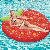 WYD Wasser Schwimmt Dickes PVC Aufblasbares Erdbeerwassernetgarn, Das Reihenstuhl, Aufblasbare Aufenthaltsraum-/Pool-Ruhesessel-Spielzeug Für Erwachsene U. Kinder Schwimmt