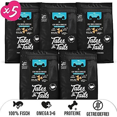 Hundeleckerlis aus 100% Fisch   Natürlich, Zuckerfrei, Getreidefrei, Reich an Omega 3   Kausnack von Tales&Tails®   5…
