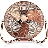 Brandson - Ventilador de mesa 50 cm | máquina de viento | 3 niveles de potencia | potencia 120 W | diseño retro | metal / cobre