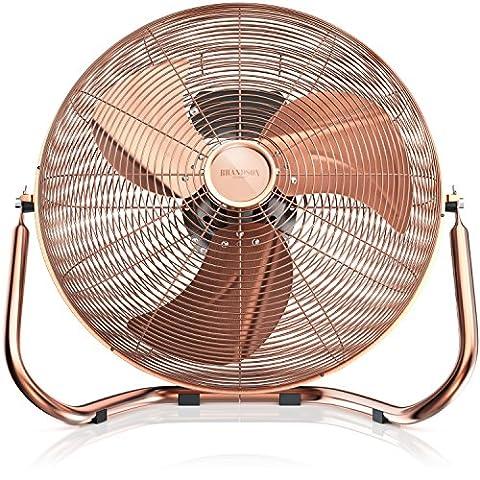 Brandson - Ventilateur in cuivre en design rétro avec 120