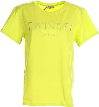 TWIN SET COLLEZIONE 211TT2230 00809 Giallo LED Twin Set T-Shirt Donna XS