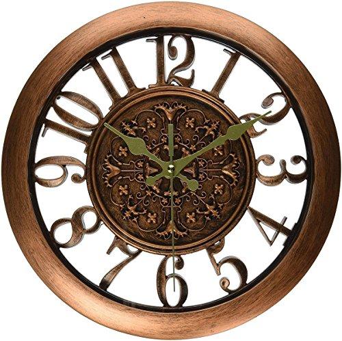 foxtop-11-pouces-28cm-de-diamtre-vintage-rtro-horloges-murales-silencieux-non-ticking-copper-couleur
