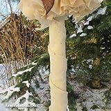 Videx Winterschutz Wickelband 100% Schafwolle, 12cm, wollweiß