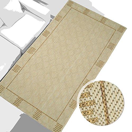 Tappeto tessuto piatto Marrone beige a righe geo-versand versch. Taglie