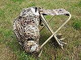 SUTTER® Sac à Dos et Chaise de Chasse et d'affût, 35 litres, Camouflage| très Confortable à Porter d'affût |Chasse aux Pigeons | Camo Chaise Cacher d'affût
