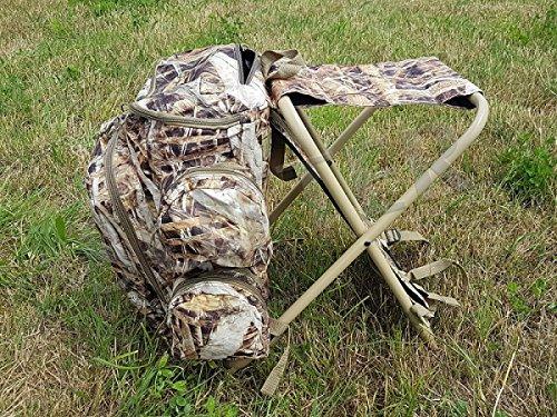 Zaino da viaggio 35 litri con sedia/portatile pieghevole/da campeggio pesca caccia o camping sgabello di facile trasporto