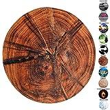 Sanilo Badteppich Rund, viele schöne Runde Badteppiche zur Auswahl, hochwertige Qualität, sehr weich, schnelltrocknend, waschbar, 80 cm (Old Tree, 80 cm)