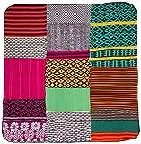Desigual cubierta 57EL0A1 Patchwork Knitting Multicolor 150 x 170 cm