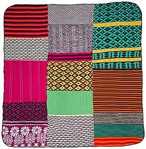 desigual 57el0a1 couverture en patchwork tricot multicolore 150 x 170 cm cuisine. Black Bedroom Furniture Sets. Home Design Ideas