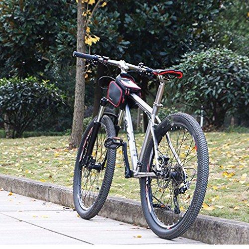 Gazechimp 1 Stk. Fahrrad Rahmen Handy Tasche mit 2 Seiten Kleine Tasche - Wasserdicht Gepolstert Rot