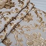 aztk europeo PVC estilo profundo patrón de textura en relieve tallado en relieve oro papel pintado...