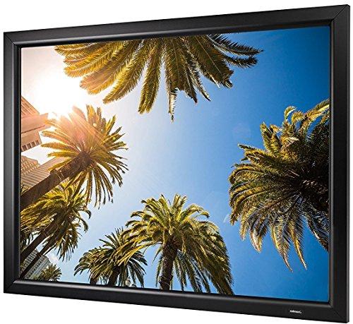 celexon Rahmen-Leinwand HomeCinema Frame 160 x 90 cm | Format 16:9 | Beamer-Leinwand mit festem Rahmen | Gainfaktor 1,2 – optimal für Heimkino & Präsentationen | Einfache Montage durch Stecksystem