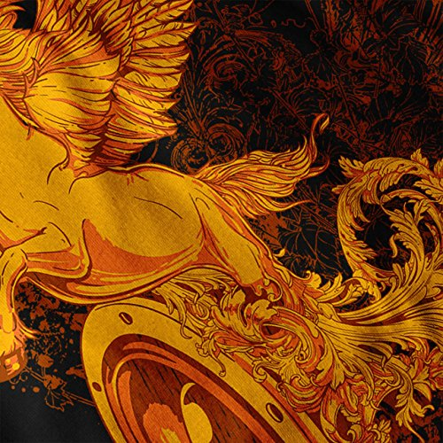 Pegasus Freiheit Musik mythisch Damen Schwarz S-2XL Muskelshirt | Wellcoda Schwarz
