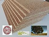 Sughero Biondo, Qualità Superiore, spessore 2 cm. densità maggiorata 175/180 Kg/mc, isolamento termico e acustico. (5)