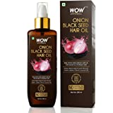 WOW Skin Science Onion Black Seed Hair Oil - Controls Hair Fall - No Mineral Oil, Silicones & Synthetic Fragrance…