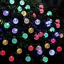 con distintos colores al aire libre solar luz de la accionada de la decoracin de navidad de las luces destellan y impermeable para