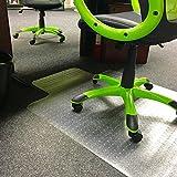 Heavy Duty Clear Vinyl Office Computer Chair Carpet/Hard Floor Protector Mat Non Slip