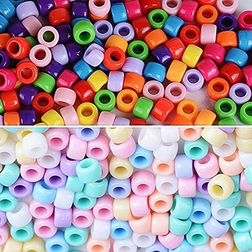 c254df57f05d 2000pcs Cuentas Abalorios de Colores Acrílico Granos de Espaciador Perla  Plástico Mezcla.