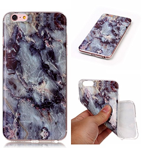 Cover iPhone 6/6s Plus, Sportfun Modello in marmo morbido protettiva TPU Custodia Case in silicone per iPhone 6 Plus 6s Plus (01) 05
