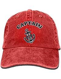 d920535fa91 Captain Ships Anchor Unisex Denim Bucket Hat Novelty Visor Caps