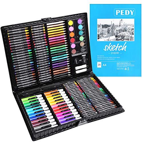 PEDY 164 Accesorios de Dibujo, Lápices de Colores, Set Artístico para Dibujar...