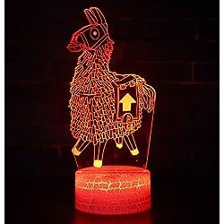 Fortnite 3D L mpara de Escritorio Win Y LED 7 del tacto del color de la l mpara del dormitorio del hogar decoraci n de la ofi