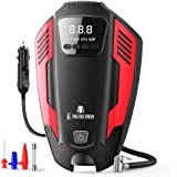 RNG EKO GREEN Digital Car Air Compressor Tyre Inflator, DC 12V Predator Series Tire Inflator for Car Tires, Bikes, Bicycles & Other Inflatables- (Red+Black)