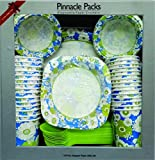 #8: Pinnacle Packs Party Supply Disposable Plate Bowl Cup Glass Dinner Set 6 colors (pack of 135 pcs)