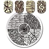 Born Pretty Round Stamping Plate Tree Ring Wood Grain Manicure Nail Art Image Plate BP-158